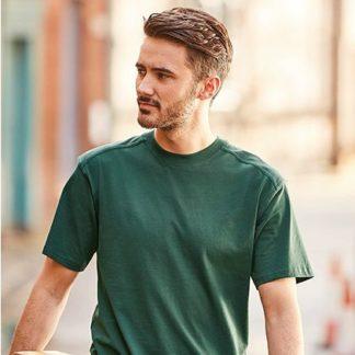 Z010 Herren T-Shirt Workwear Russell Arbeitskleidung mit einer Logo Bedruckung
