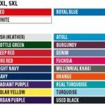 alle Farben zu Größen