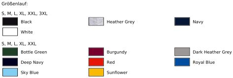 F324 Textilfarben vom Herren Pullover und Sweatshirt von Fruit of the Loom zum Bedrucken, Besticken und Beflocken