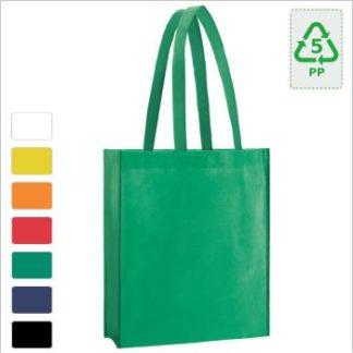 Einkaufstasche mit Bodenfalte mit Firmenlogo bedruckt