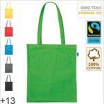 Baumwolltasche Fairtrade lange Henkel mit Logodruck