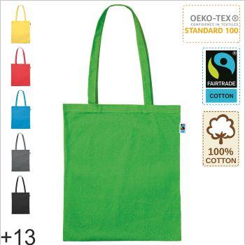 Tasche aus Fairtrade Baumwolle mit zwei kurzen Henkeln 38 x42cm Baumwollbeutel