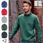 Z012 Sweatshirt / Pullover mit Polokragen zum bedrucken und besticken