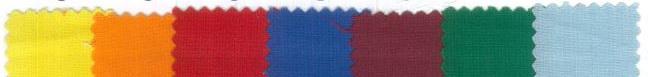 Stoff-Farben für Masken und Stoffbänder MAK10 und MAK20