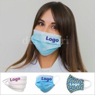 Schutzmasken mit Logo besticken - bedrucken
