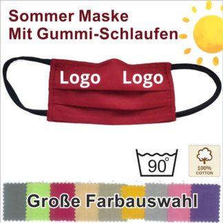 MAK10 Baumwoll Sommer Schutzmasken mit Gummi-Schlaufen