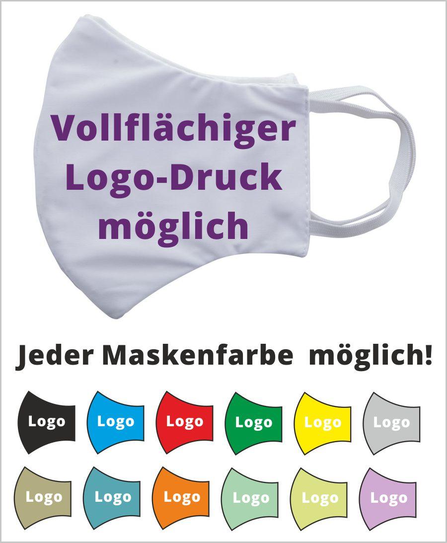 Mundschutz Masken mit Logo bedrucken