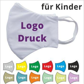 Kinder Mundschutz Masken mit Logo bedrucken
