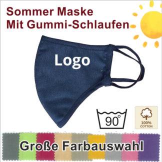 MAZ4 Baumwolle Sommer Gesichtschutz Maske