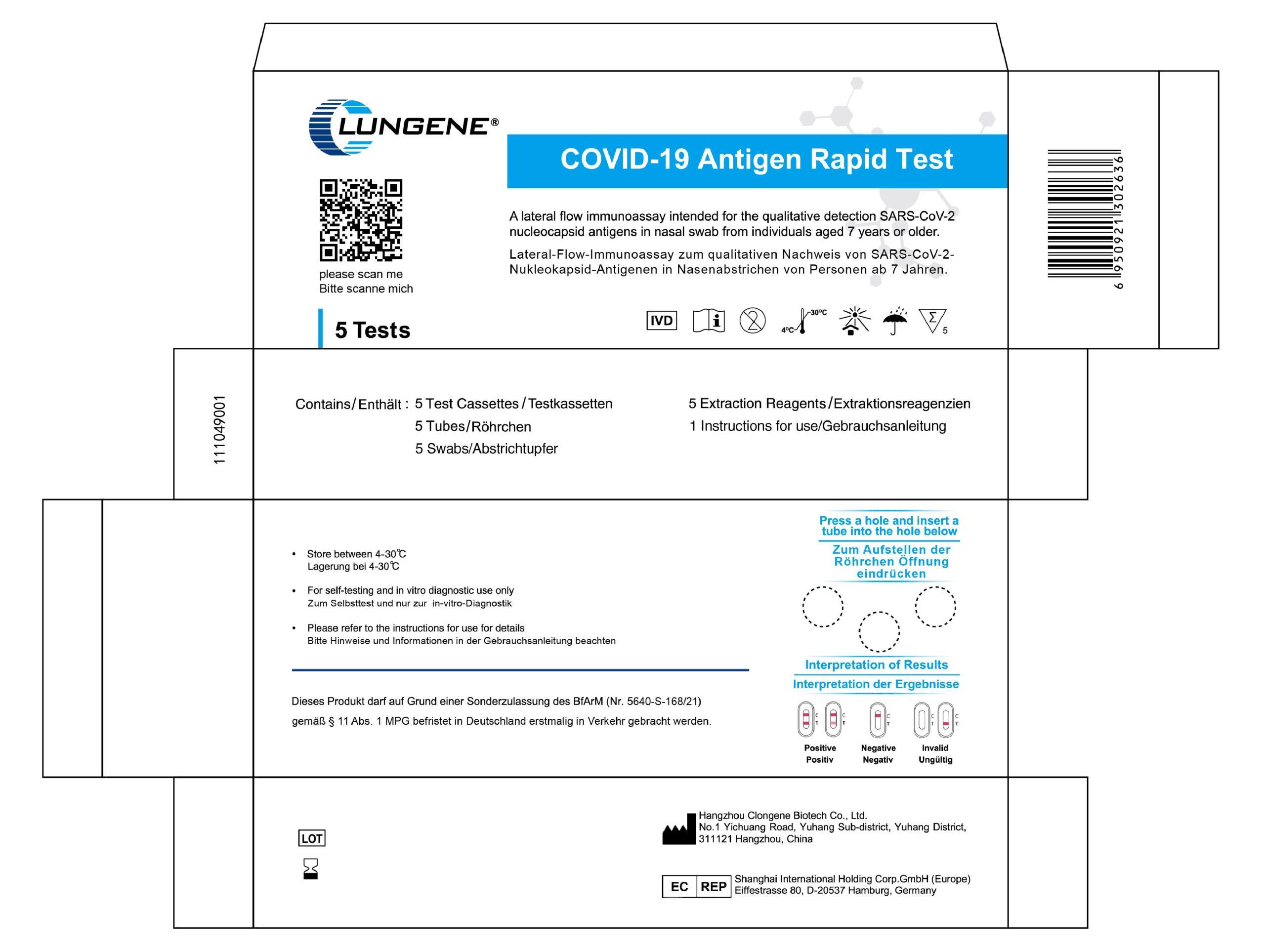 Verpackung COVID-19 Antigen Test